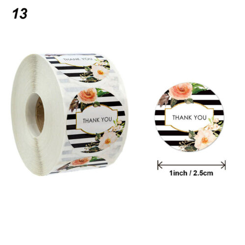 500PCS Thank You Stickers Wedding Envelope Seals Handmade Stationery Stickers