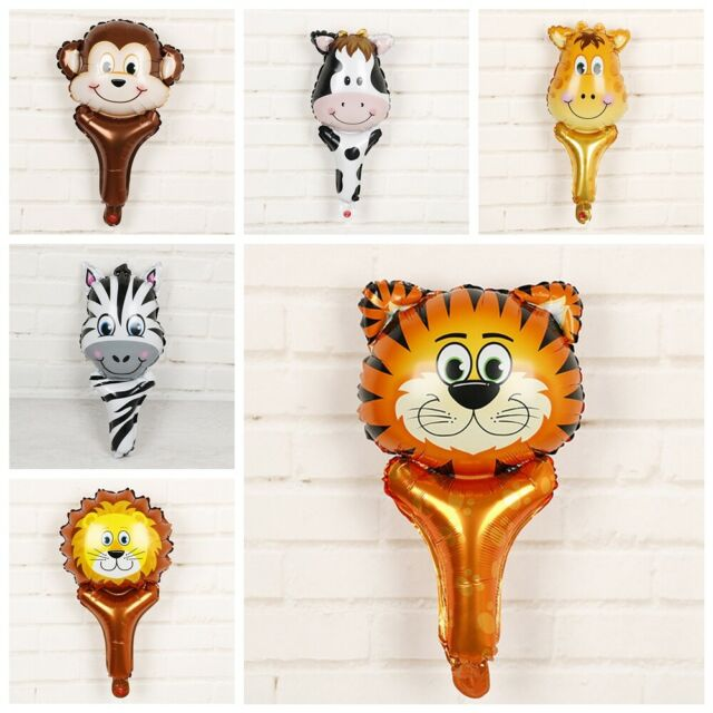 Animal Head Foil Balloon Kids Inflatable Toys Tiger Lion Monkey Giraffe Cow