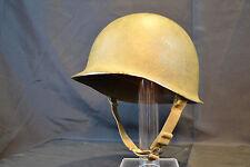 WWII US WW2 M1 OFFICER'S FRONT SEAM FIXED BALE HELMET FIRESTONE NAMED  LT LINER