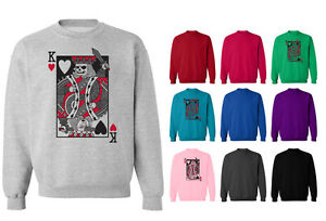 Evil King Of Hearts Playing Cards Unisex Sweater Sweatshirt Jumper
