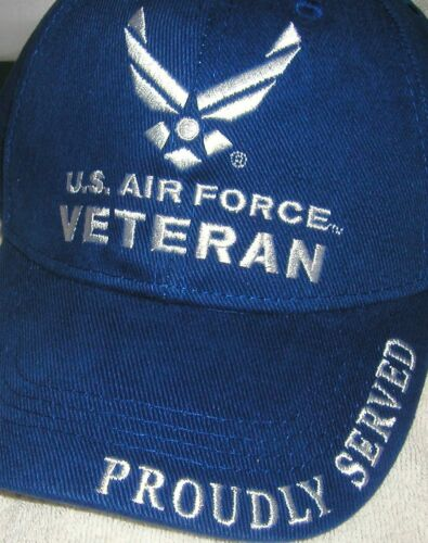BRAND NEW US AIR FORCE VETERAN PROUDLY SERVED LICENSED HAT//CAP #407
