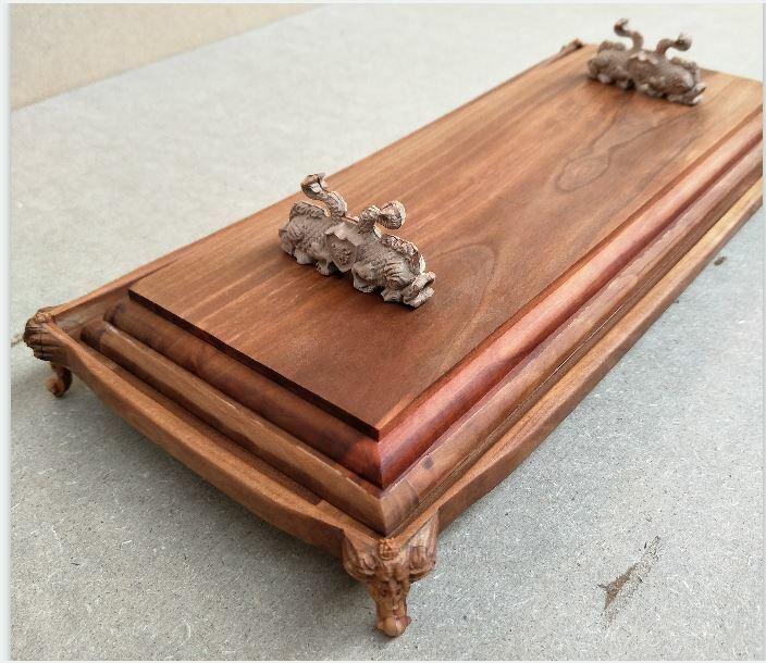 Pear Wood Carving Ship base for Model Ship Kit  - 15  length  for 800 mm ship