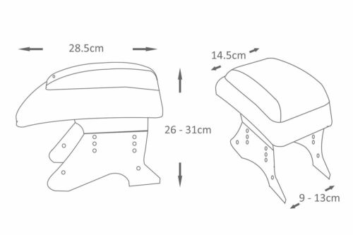 Armrest Centre Console Faux Leather Fits Vw Passat 32b 35i 3b 3bg