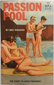 Passion-Pool-by-Weldon-PEC-Book-G-1110-1966-Vintage-PB-Sleaze-Doug-Weaver