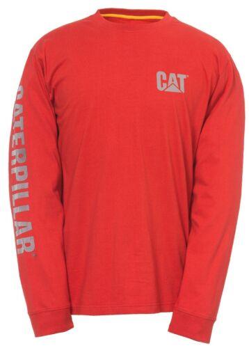 CAT Caterpillar Custom Banner T-Shirt Longsleeve Workwear Mens