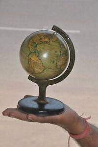 Vintage-Fiable-Serie-Litho-Fino-Mundo-Atlas-Globe-Estano-Modelo-Inglaterra