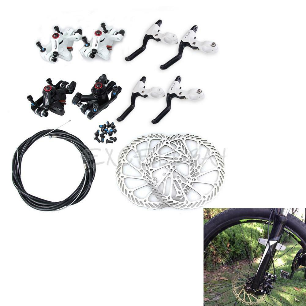 MTB Bicycle Disc Brake Set Kit Calipers Levers G3 redors 160mm Hose