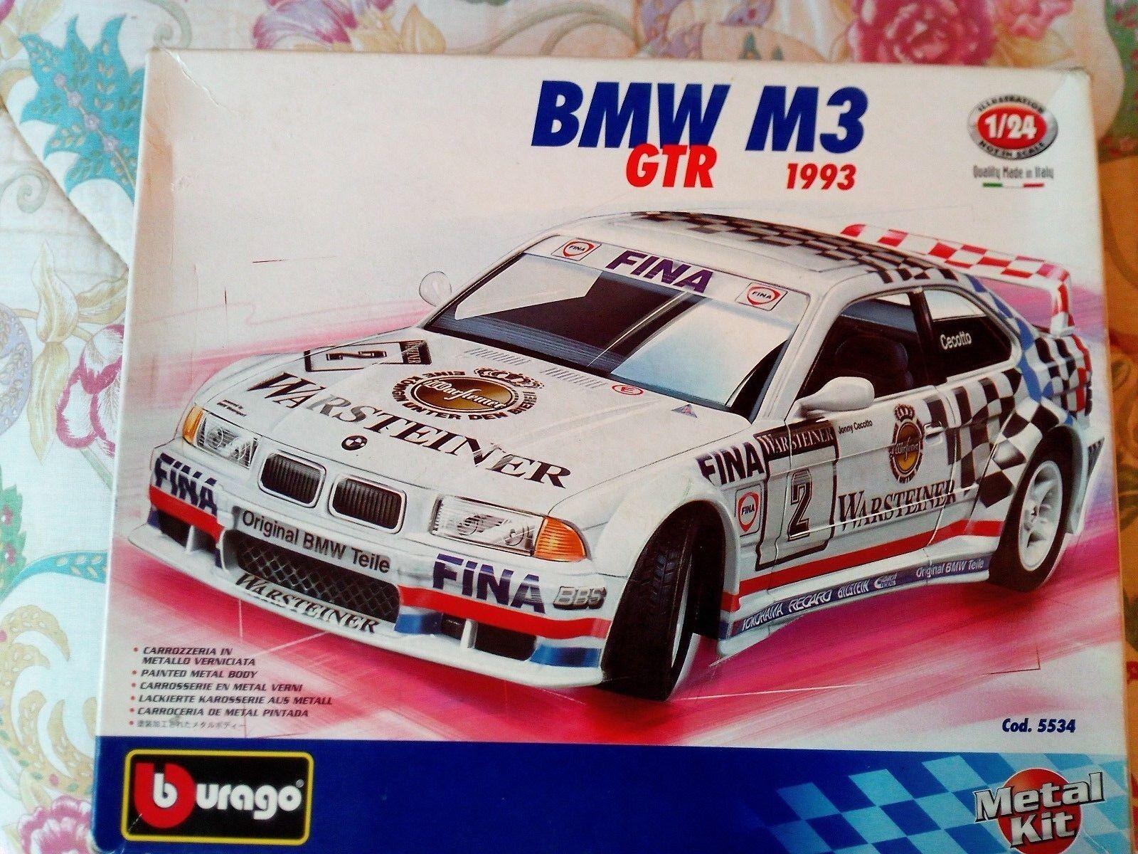 RARO BMW M3 GTR 1993 1993 1993 BBURAGO KIT MODELLO DA MONTARE SCALA 1 24 NUOVO COD. 5534 b86d2f