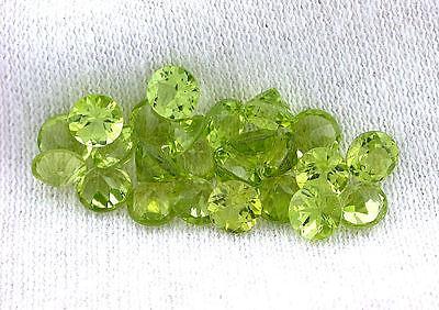 FOUR 4mm Round Natural San Carlos Aizona Apple Green Peridot Gemstone JMN39