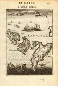 MALLET 1683 map DODECANESE Leros Calamo Kalymnos Kalimnos Lango Kos Pserimos