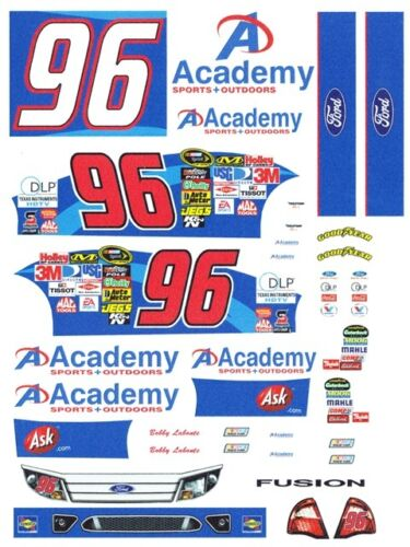 #96 Bobby Labonte ACADEMY Sports 1//24th 1//25th Scale Waterslide Decals