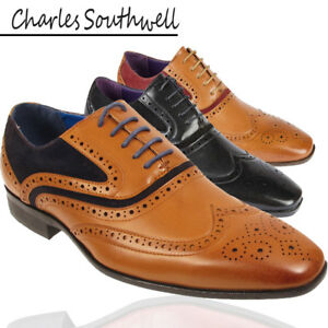 Mens-Brogue-Oxford-Lace-Up-Leather-Lined-Formal-Shoes-Size-UK-6-7-8-9-10-11-12