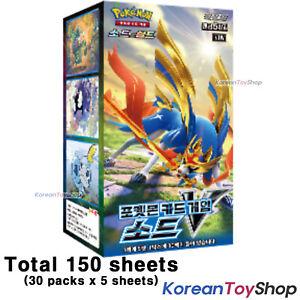 Pokemon Cards Sword V Booster Box S1w 30 Packs 5 Cards Sword Shield Korean Ebay