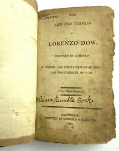 Lorenzo Dow 1st Edition Book 1804 Theology Religion Life Travels Leatherbound