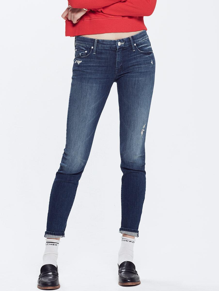 Nuevo con etiquetas Mother Looker Jeans Oscuros Graffiti 25 31  Azul Oscuro Skinny ligeramente envejecido  promociones emocionantes