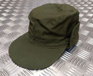 5255bc0e781 Details about Genuine Swedish Army Olive Drab-Green Combat Fatigue Baseball  Cap 61cm NEW