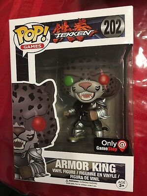Armor King Funko Pop Tekken 202 Gamestop Exclusive Gray Armor Ebay