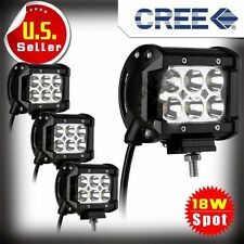 """4X 18W 4"""" Cree LED Work Light Bar Spot Beam Offroad 4WD UTE SUV Driving Lamp H7~"""
