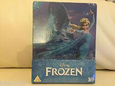 DISNEY congelato 3D STEELBOOK BLU RAY Zavvi esclusivo ** NUOVO E SIGILLATO **