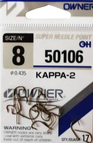 Owner Haken KAPPA-2 50106 versch Großen Angelhaken Hacken