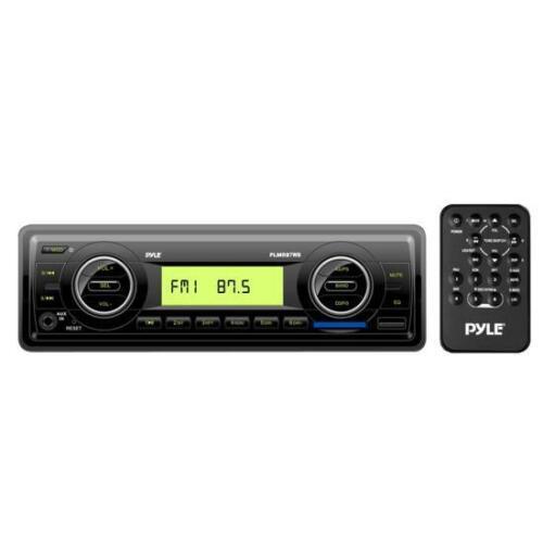 NEW Pyle PLMR87WB AM//FM-MPX IN-Dash Marine MP3 Player//Weatherband//USB /& SD