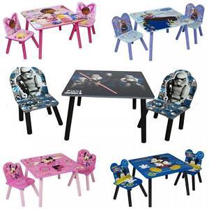 Disney in legno per bambini tavolo due sedie set camera da - Sedie per camera da letto ...