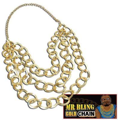 1980S , 1970S FANCY DRESS JEWELLERY MR BLING GOLD CHAIN