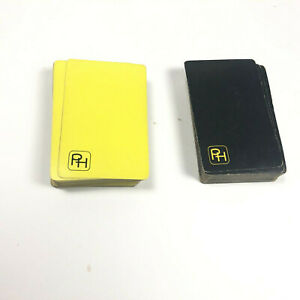 PH Playing Cards Yellow Black Halle Brothers Company United States Dual Deck