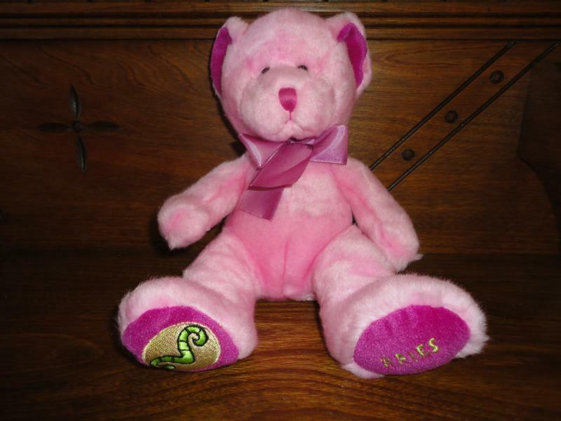 Russ Star-Scopes Birthday Zodiac Bear Aries 10 inch Handmade