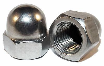 DIN1587 50 St/ück Edelstahl V2A Hutmutter Sechskant-Mutter Rostfrei M3 M4 M5 M6 M8 w/ählen 50x M3