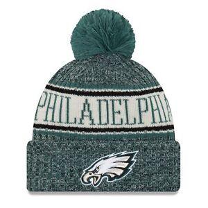 Era NFL Sideline 2018 Bobble Beanie Philadelphia Eagles  b36b87032fb6