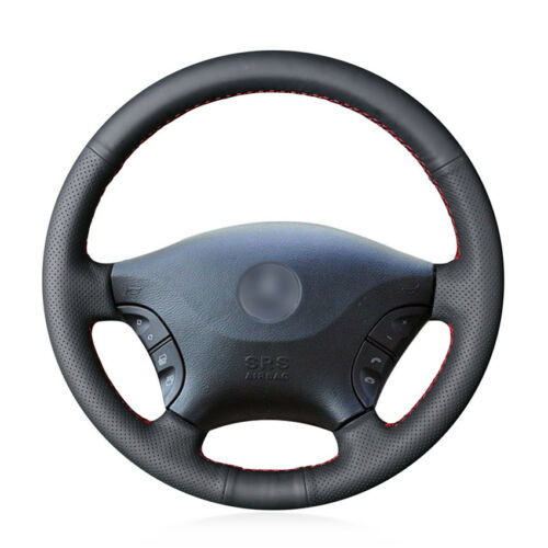 Steering Wheel Cover Black Leather Wrap For Benz Viano 2006-2011 Vito 2010-2015