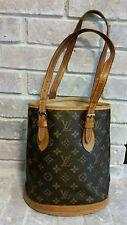Vintage Louis Vuitton LV Monogram Petit Bucket Bag Shoulder Tote Bag Purse NR