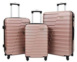 Robuste-4-Roues-Bagages-or-rose-ABS-Chiffres-Serrure-leger-valise-sacs-de-voyage