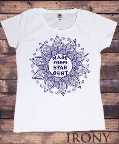 TS727 T-shirt femme fabriqué à partir de Star Dust fleuri Icône Imprimer