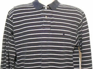 Details about Mens Black, Brown, White Striped Long Sleeve Polo Shirt by Ralph Lauren, Adult L