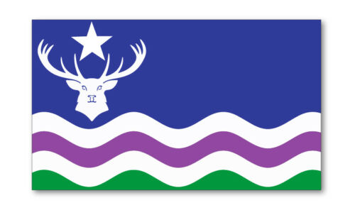 2 X EXMOOR EMBLEM FLAG VINYL STICKERS CAR VAN TRUCK TAXI LORRY