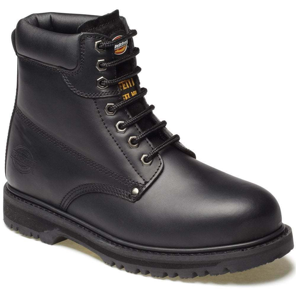 DICKIES CLEVELAND ANKLE SAFETY WORK BOOTS BLACK STEEL TOE CAP FA23200