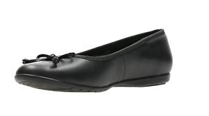 CLARKS Jesse Shine Girls Black leather