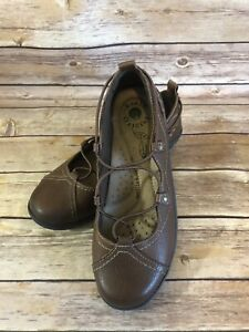 Earth-Ballet-Flat-Size-6-5-M-Womens-Brown-London-Shoes-Slip-On-Comfort-Leather