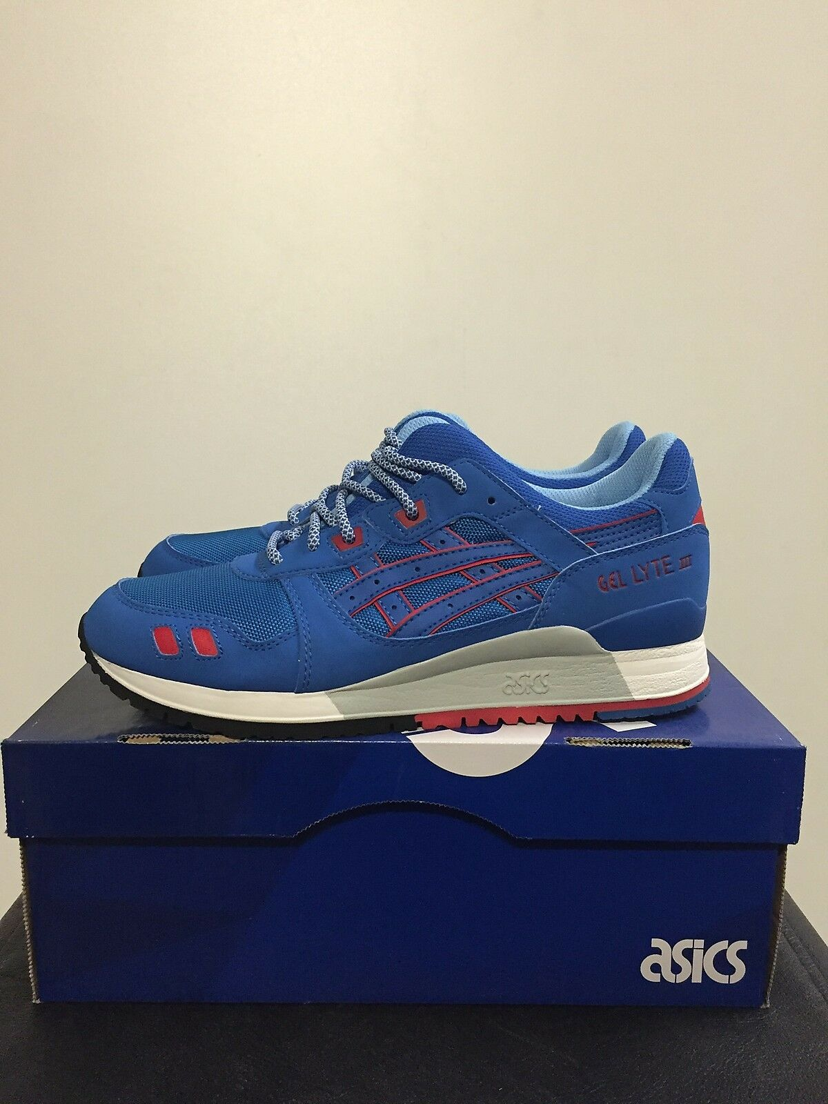 Asics Gel Lyte III 3 Mid Bleu Homme Running Chaussures Trainers New H637Y-4242
