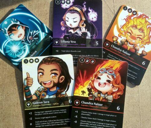 5 MAGIC CARDS PLANESWALKERS LILIANA CHANDRA GIDEON JACE