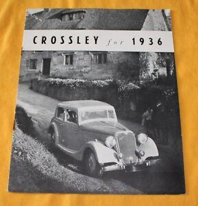 Crossley-1936-Prospekt-Brochure-Catalog-Regis-Saloon-3-Litre-Sports-Saloon