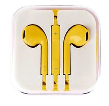 New Yellow Colour Headphones Earphone Handsfree With Mic For iPhone Models
