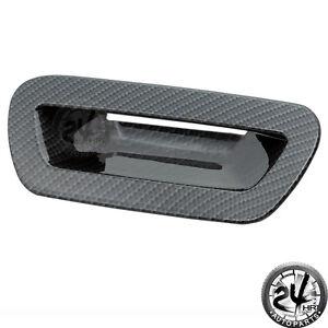 Black Carbon Fiber Look Tailgate Cover For 05 08 Magnum
