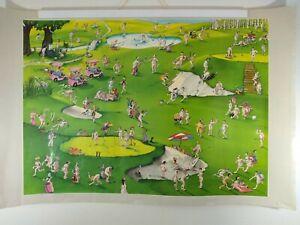 Vintage 1990 VERKERKE Nude Golf Course Shenanigans Cartoon