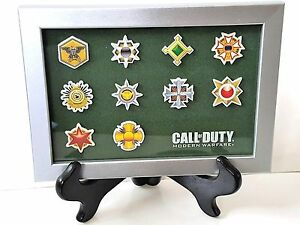 Call-of-Duty-4-Modern-Warfare-PRESTIGE-ICON-PATCHES-FRAMED-NEW-EXCLUSIVE