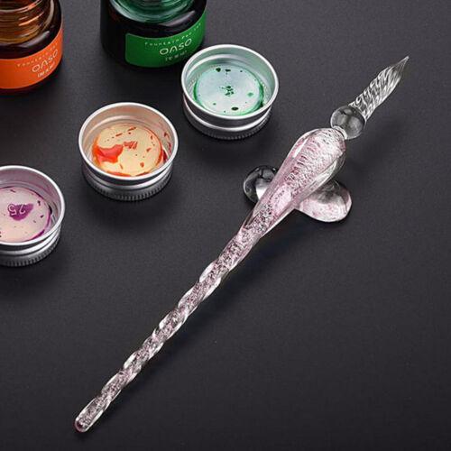 Handgemachte Kristallglas Zeichen Dip Pen Tinte Set Kreative Kunst Geschenk Deko