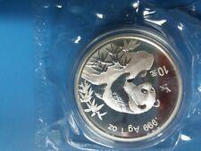 1999 china panda y2k silver coin