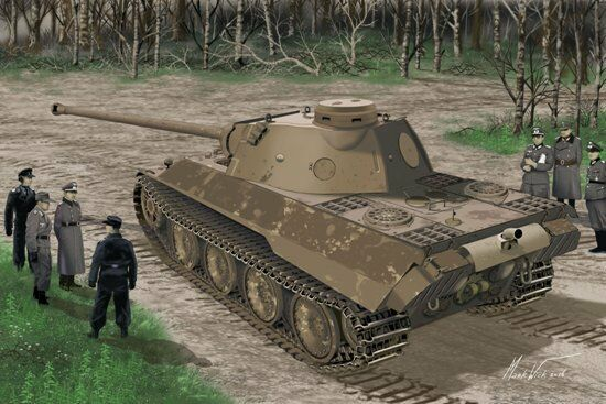 1 35 Dragon 6830 - WWII German Panther Ausf.D V2 Versuchsserie Plastic Model Kit